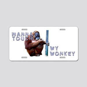 Touch-Monkey_5 Aluminum License Plate