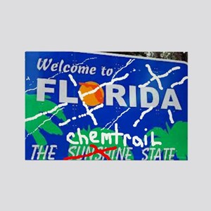 Welcome - To The Chemtrails State Rectangle Magnet