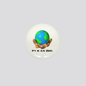 Earth In Our Hands Mini Button