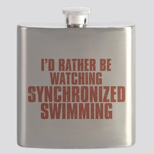I'd Rather Be Watching Synchronized Swimming Flask