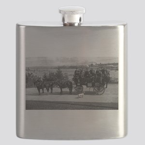 Men riding in a Tally-ho Flask