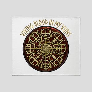 Nordic Guidance - Viking Blood Throw Blanket