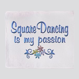 Square Dancing Passion Throw Blanket