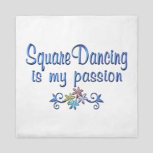 Square Dancing Passion Queen Duvet