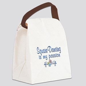 Square Dancing Passion Canvas Lunch Bag