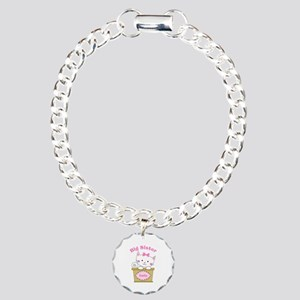 Personalized Kitty Big Sister Charm Bracelet, One