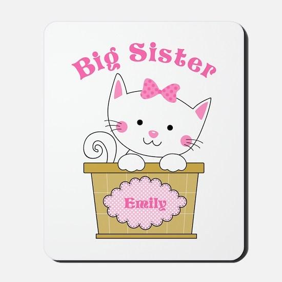 Personalized Kitty Big Sister Mousepad