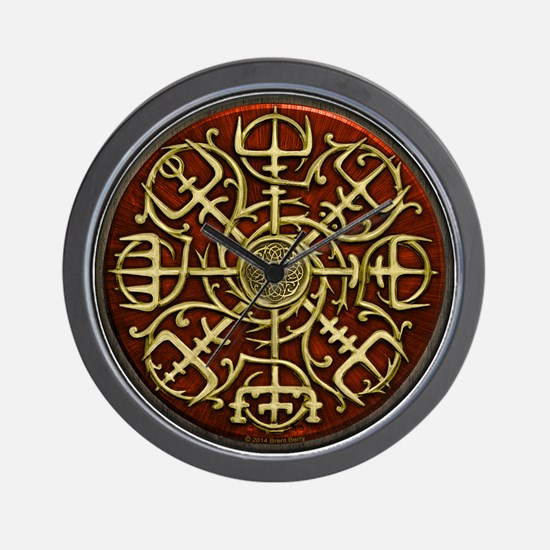 Nordic Guidance Red Wall Clock