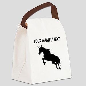 Custom Unicorn Silhouette Canvas Lunch Bag