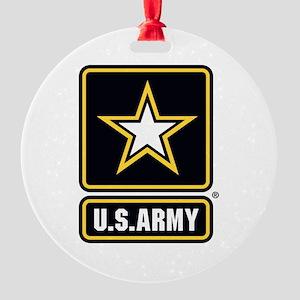 U.S. Army Star Logo Round Ornament