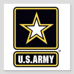 "U.S. Army Star Logo Square Car Magnet 3"" x 3"""