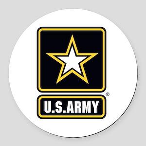 U.S. Army Star Logo Round Car Magnet