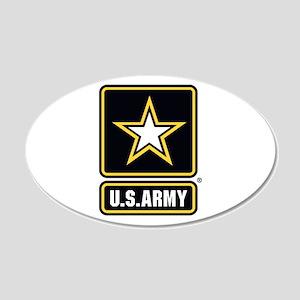 U.S. Army Star Logo 20x12 Oval Wall Decal