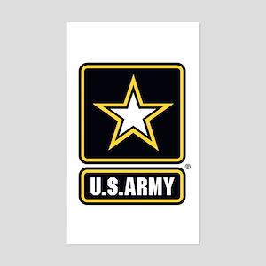 U.S. Army Star Logo Sticker (Rectangle)