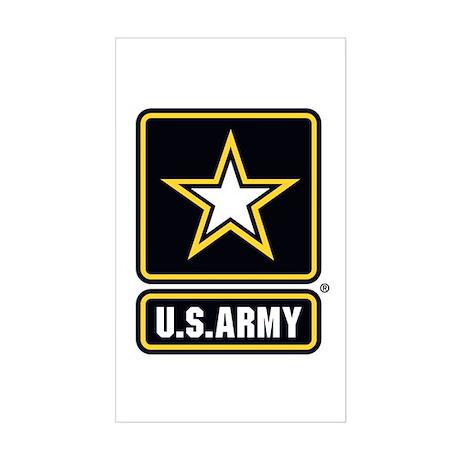 u s army star logo sticker rectangle by pride tshop