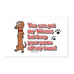 You Can Pet My Wiener! Mini Poster Print