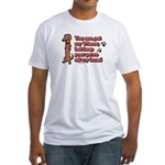 You Can Pet My Wiener! Fitted T-Shirt
