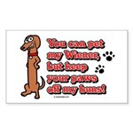 You Can Pet My Wiener! Rectangle Sticker