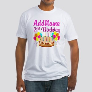 DAZZLING 21ST Fitted T-Shirt