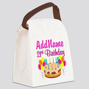 DAZZLING 21ST Canvas Lunch Bag