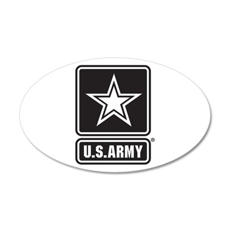 U.S. Army Star Logo [b/w] 20x12 Oval Wall Decal