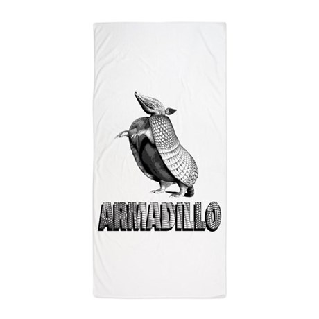 armadillostanding.png Beach Towel