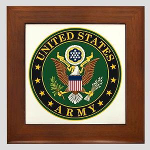 U.S. Army Symbol Framed Tile