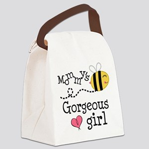 Mommy's Gorgeous Girl Canvas Lunch Bag