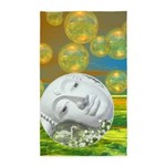 Abstract Peace Gold Emerald 3'x5' Area Rug