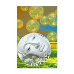 Peace, Abstract Golden Mini Poster Print