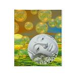 Peace Emerald Golden Throw Blanket