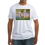 Boxer in Monet's Garden Fitted T-Shirt