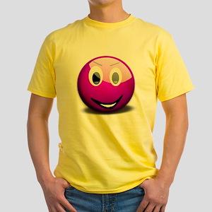 Purple Smiley Yellow T-Shirt