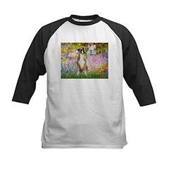 Boxer in Monet's Garden Kids Baseball Jersey