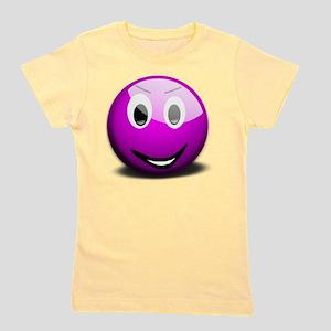 Purple Smiley Girl's Tee