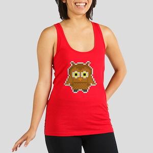 Pixel Owl Womens Dark Racerback Tank Top