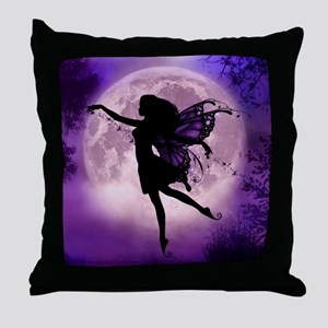 Midnight Stroll Fairy Throw Pillow