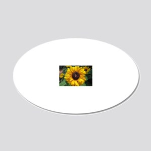 Sunflower 20x12 Oval Wall Decal