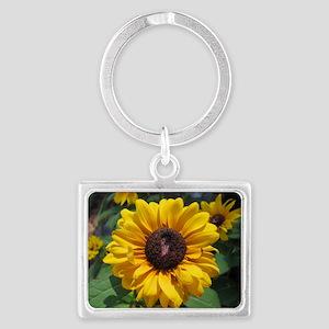 Sunflower Landscape Keychain