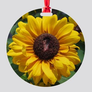 Sunflower Round Ornament
