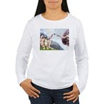 Creation of the Boxer Women's Long Sleeve T-Shirt