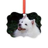 American eskimo Picture Frame Ornaments