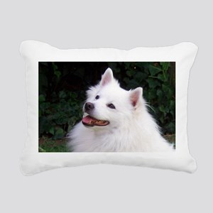 american eskimo Rectangular Canvas Pillow