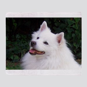 american eskimo Throw Blanket