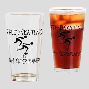 SPEEDSKATING is My Superpower Drinking Glass