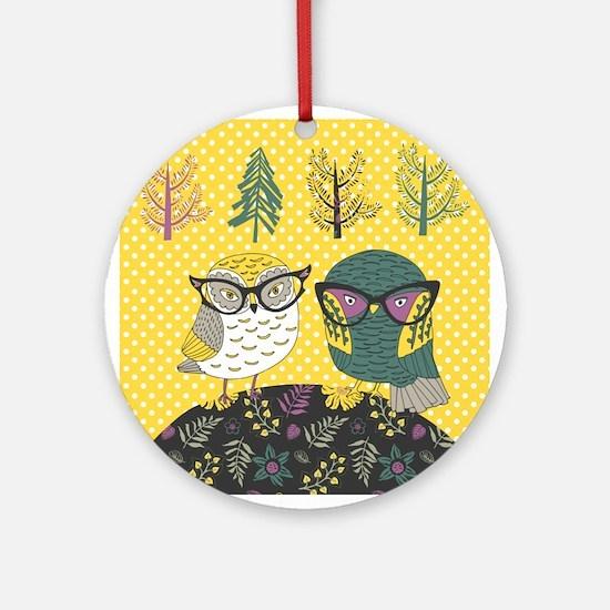 Trendy Owls Ornament (Round)