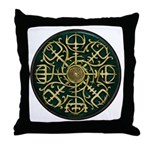 Nordic Guidance - Green Throw Pillow