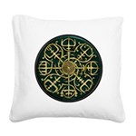 Nordic Guidance - Green Square Canvas Pillow