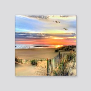 "Cape Hatteras Lighthouse Square Sticker 3"" x 3"""