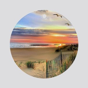 Cape Hatteras Lighthouse Round Ornament